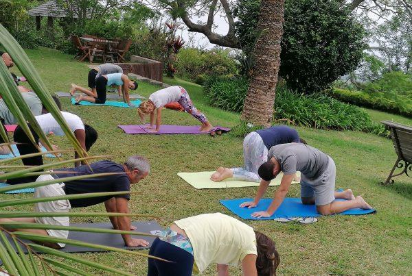 escapade yoga et vins natures par les nenettes du vin a la villa laurina saint paul